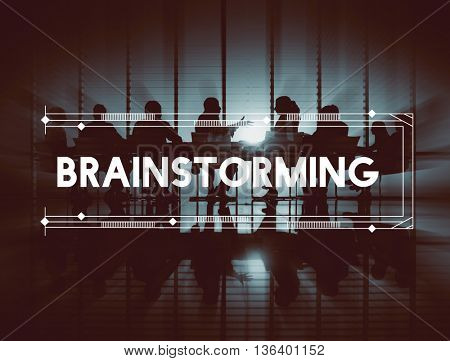 Brainstorm Brainstorming Creative Thinking Strategy Concept