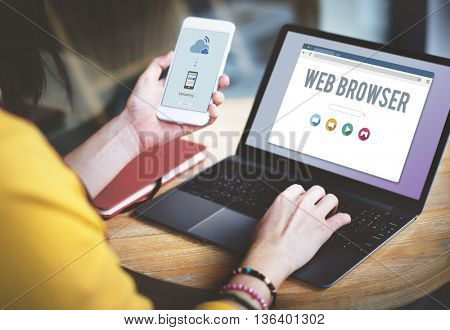 Generic Web Browser Online Page Concept