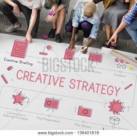 Design Development Visualize Creativity Concept