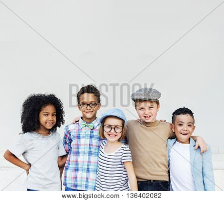 Child Friends Elementary Age Variation Offspring Concept