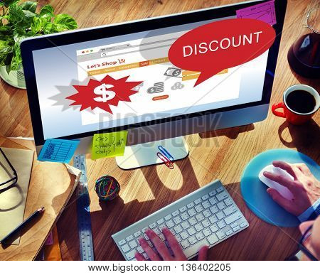 Discount Clearance Hot Price Promotion Concept