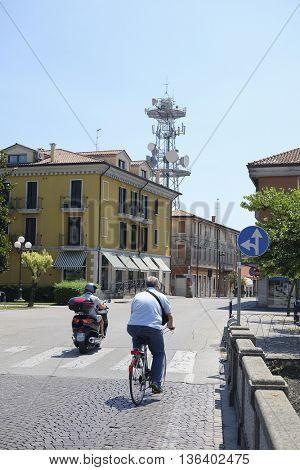 Adria, Italy - June, 29, 2016: street in a center of Adria, Italy