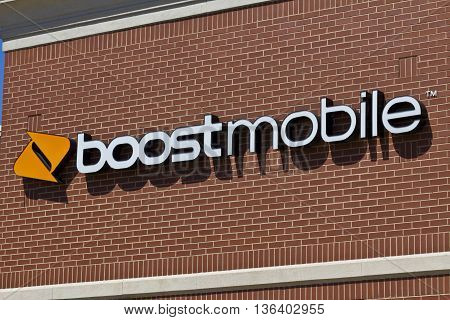 Indianapolis - Circa June 2016: Boost Mobile Cell Phone Retail Location. Boost Mobile is a Subsidiary of Sprint Corporation IV