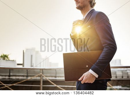 Businessman Working Business Busy Concept