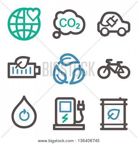 Ecology icon, green technology mobile icon, vector pictogram. Eco infographics symbols.