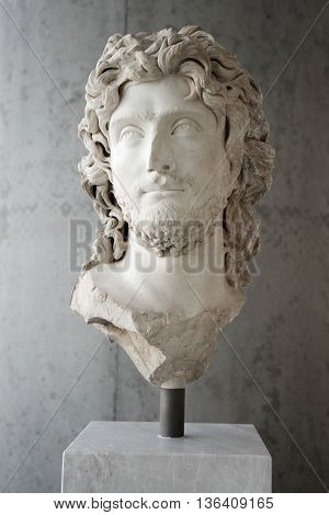 Portrait Of A Ruler In Ancient Greece