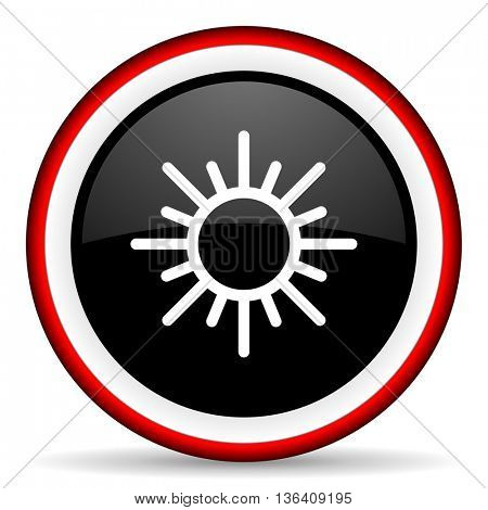 sun round glossy icon, modern design web element