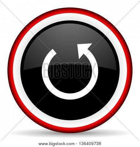rotate round glossy icon, modern design web element