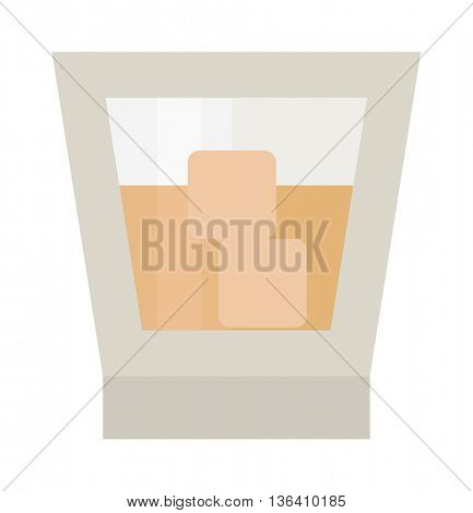 cocktail glass vector illustration.