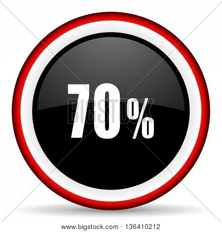 70 percent round glossy icon, modern design web element