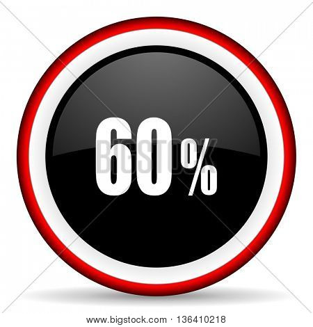 60 percent round glossy icon, modern design web element