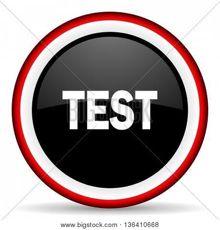 test round glossy icon, modern design web element