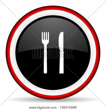 eat round glossy icon, modern design web element