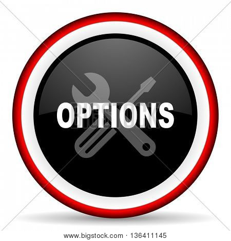 options round glossy icon, modern design web element