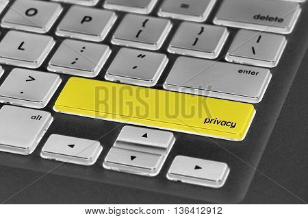 The Computer Keyboard Button Written Word Privacy