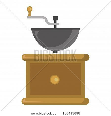 brown box with golden circle and orbed container with a grey holder over isoalted background, vector illustration
