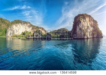 View of the rocky island in Andaman sea, Thailand