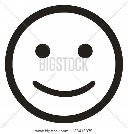 Smiling face icon isolated on white background