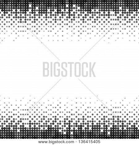 Gradient Seamless Background with Black Dots Particles