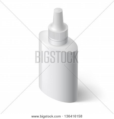 Image of Medical Spray Bottle Template with Medicine