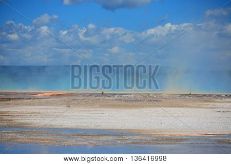 Steam From Grand Prismatic Spring