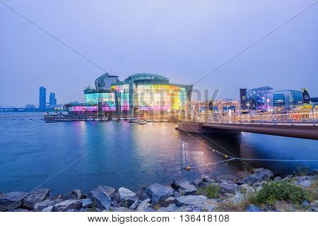 SEOUL South Korea - MAY 23:Some Sevit at nightl. MAY 23 2016 in Seoul South Korea
