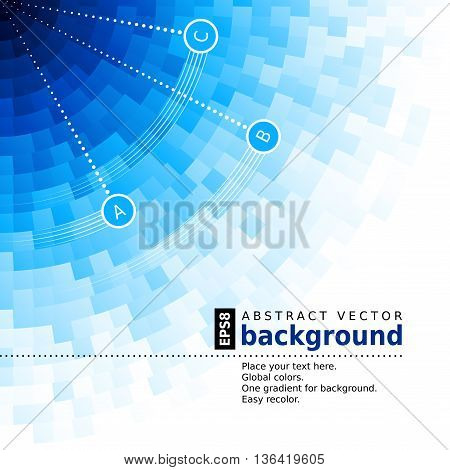 Abstract blue background. Eps8. RGB. Global colors. Gradients used.