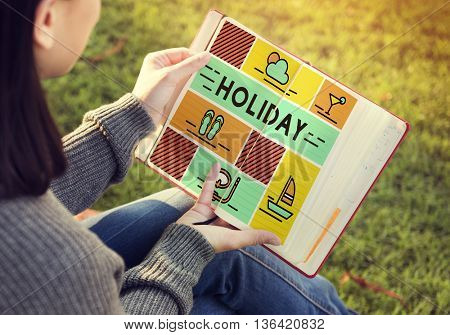Holiday Break Festival Journey Relaxation Travel Concept