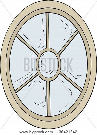 Oval Shaped Window Illustration