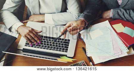 Team Partner Business Discussion Communication Concept
