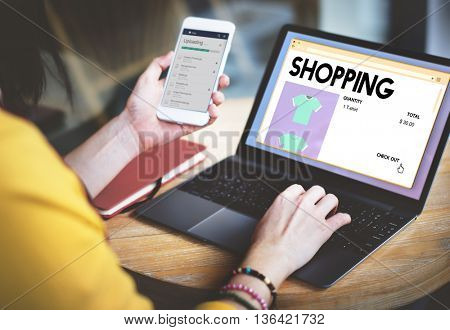 Shopping Marketing Puchase Shopaholic Spending Concept