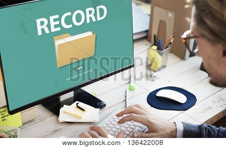 Record Confidential Privacy Infomation Data Concept