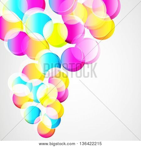 Abstract circles splash design background.