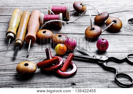 Beads And Set Of Tools
