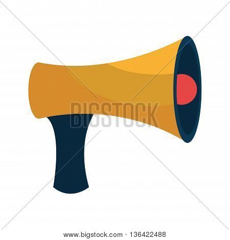 yellow blue and red speaker side view over isolated background, vector illustration