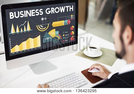Business Growth Percentage Business Chart Concept
