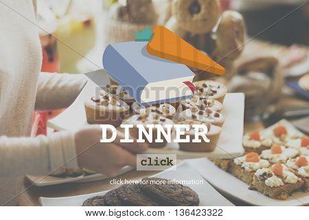 Dinner Diner Meal Food Concept