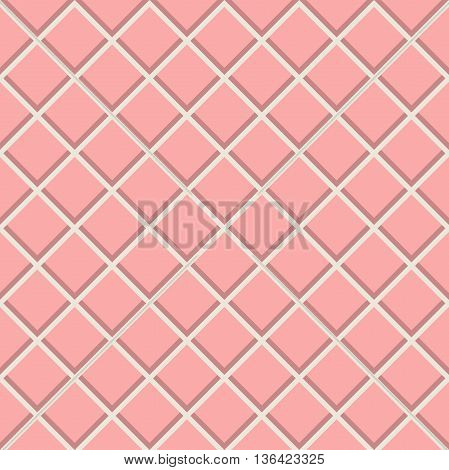 Geometric fine abstract background. Seamless modern pattern. Pink wallpaper with diagonal pink and white lines