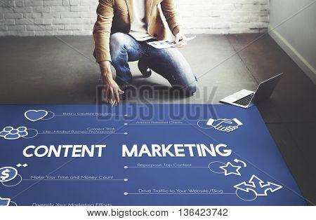 Content Marketing Advertisement E-commerce Concept