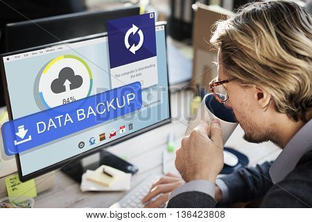 Backup Cloud Upload Sync Data Concept