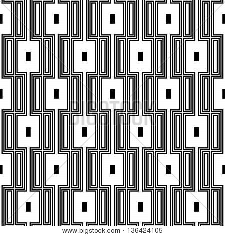 Geometric fine abstract background. Seamless modern black and white pattern