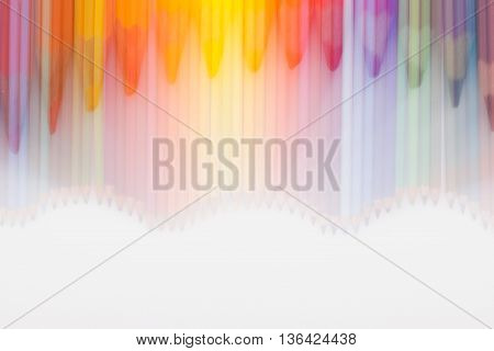 Abstract background of colored pencils in rainbow order. Abstract background of pencils.
