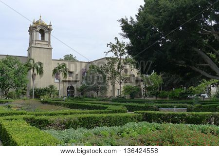 Alcazar Garden of Balboa Park in San Diego California