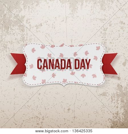 Canada Day realistic national Emblem. Vector Illustration
