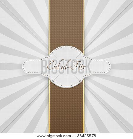 Eid al-Fitr realistic festive Badge. Vector Illustration