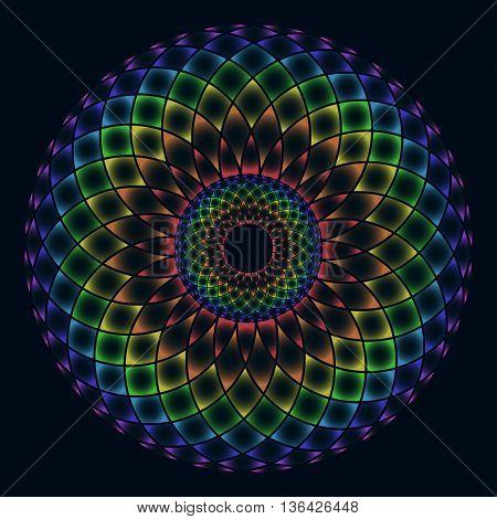 Sacred geometry. Symbol of balance and harmony. Vector illustration