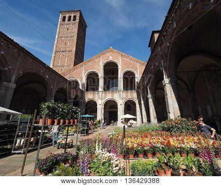 Sant Ambrogio Church In Milan