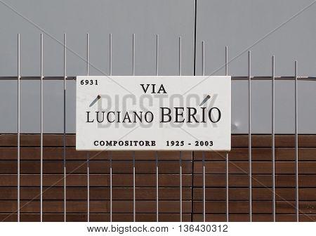 Luciano Berio Street