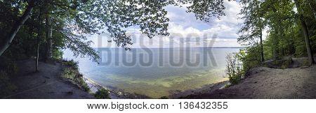 Panorama of Baltic sea cliff - Poland Gdynia Orlowo