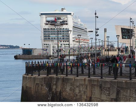 Cruise Ship In Liverpool